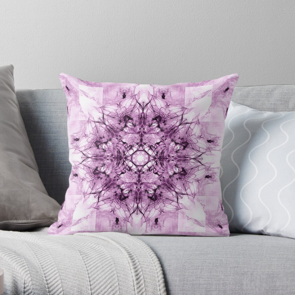 Dragonheart - Inverted Pink Throw Pillow