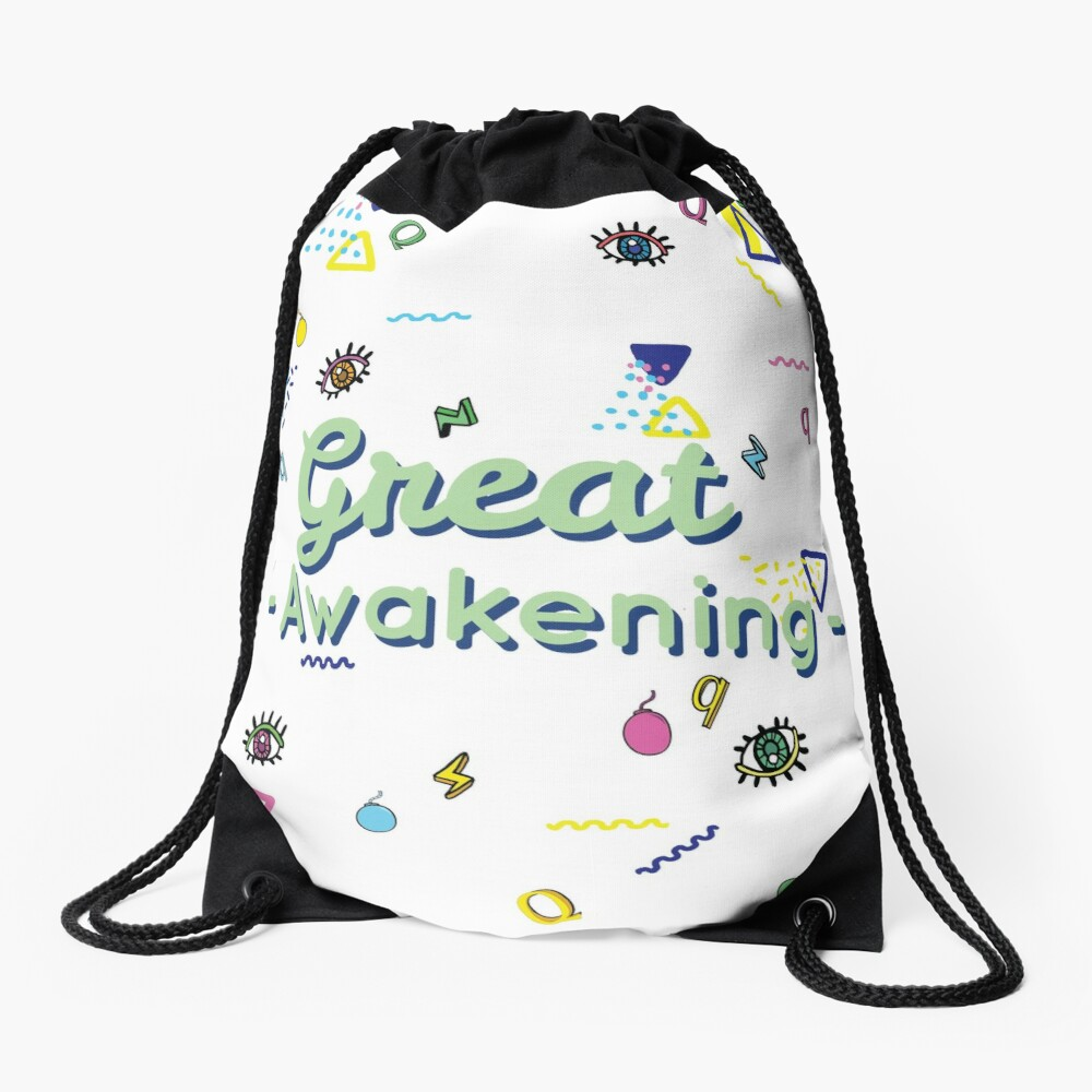 Q And The Great Awakening  Drawstring Bag