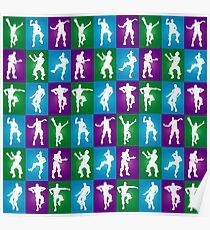 Fortnite Dances - color Poster