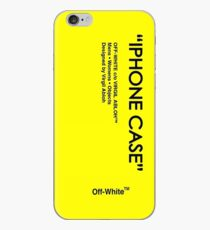 gelb abloh weiß iPhone-Hülle & Cover