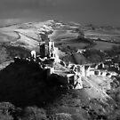 Corfe Castle in the Purbecks by Scott Irvine