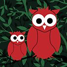 Owls in the trees by hidden-design
