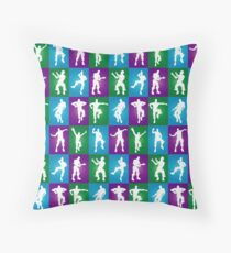 Fortnite Dances - color Throw Pillow