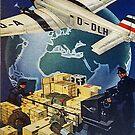 Vintage German Air Freight Ad by edsimoneit