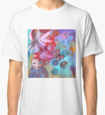 Passion Flowers And Chrysanthemums Classic T-Shirt