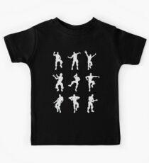 Fortnite Dances - black Kids Tee