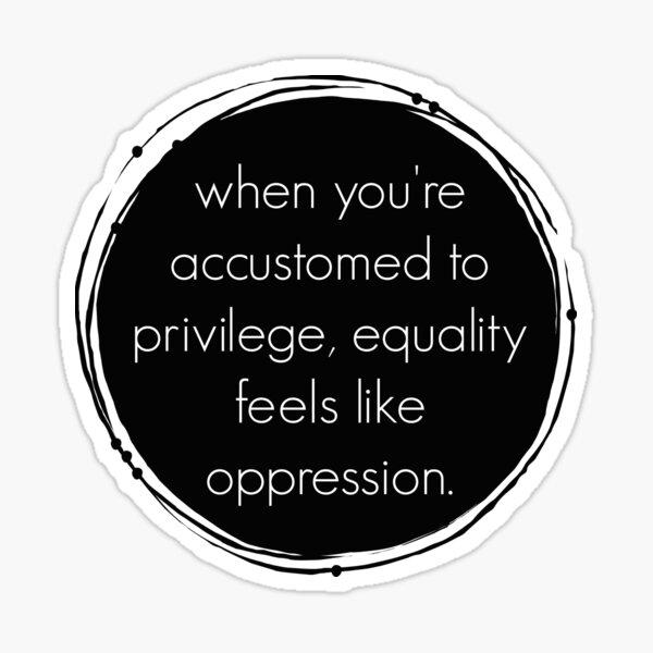 Privilege + equality = oppression? Sticker