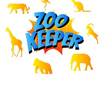 Zoo Keeper Zoo Workers Animal Lovers Staff Zookeeper by deichmonster