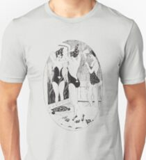 French Nude Show Girls Vintage Drawing Sketch Unisex T-Shirt