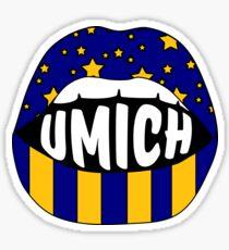 Umich Lips Sticker