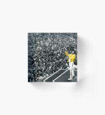 Fredddie Mercury Rock Concert Yellow Jacket Acrylic Block