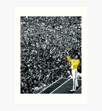Fredddie Mercury Rock Concert Yellow Jacket Art Print