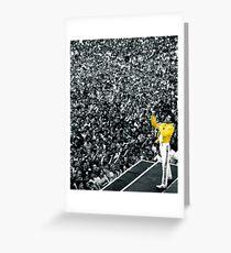 Fredddie Mercury Rock Concert Yellow Jacket Greeting Card