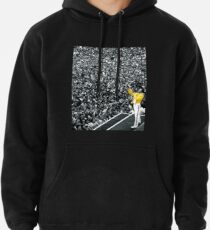 Fredddie Mercury Rock Concert Yellow Jacket Hoodie