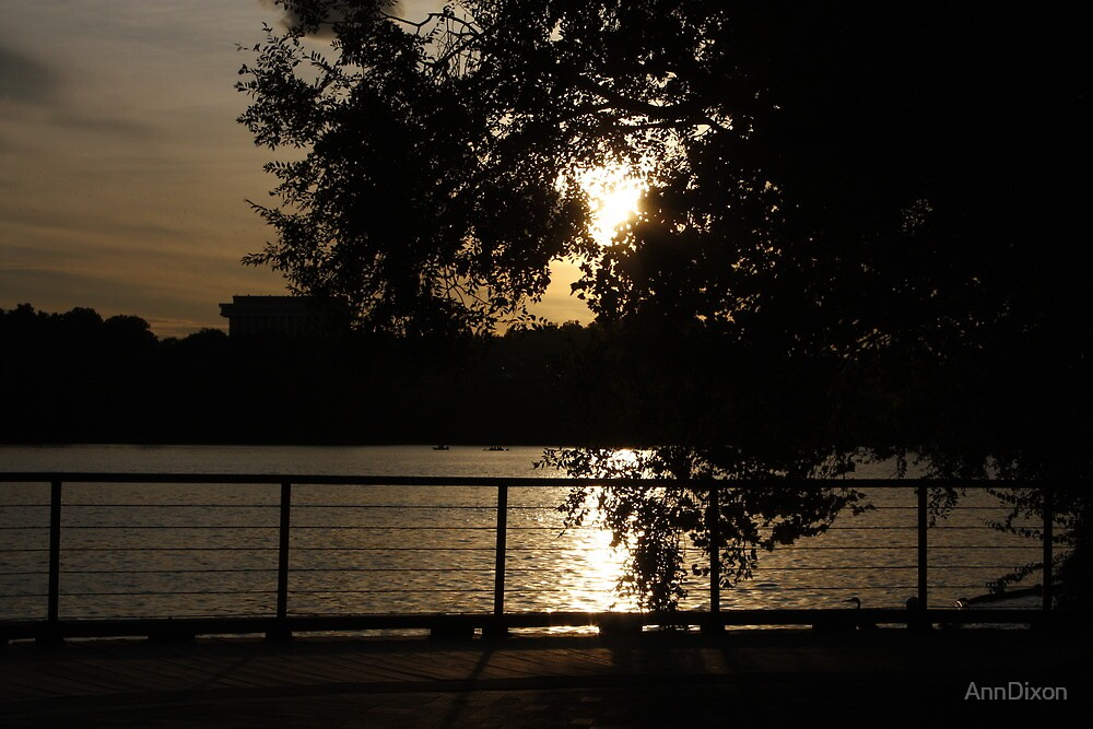 Sunset on the Potomac River, Washington DC by AnnDixon