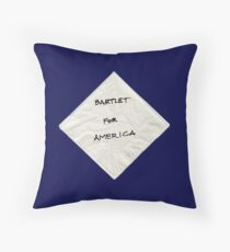 President Bartlet's Napkin Campaign Starter! Throw Pillow