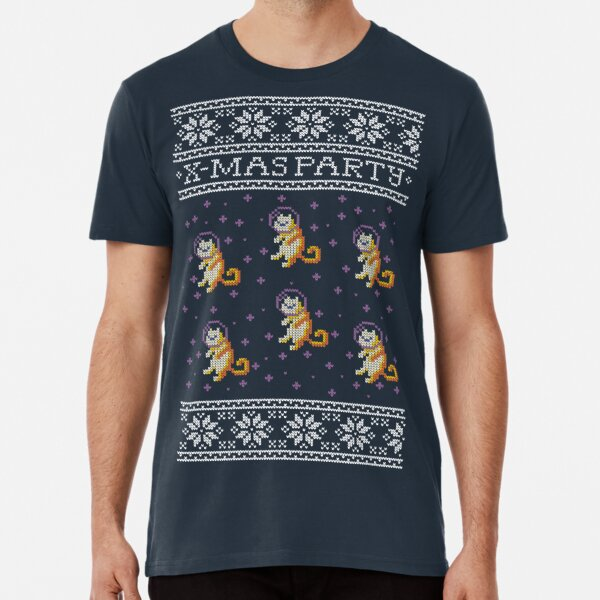 Celebrating Christmas with space cats Camiseta premium