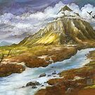 Lonely Mountain (borderless) by BohemianWeasel