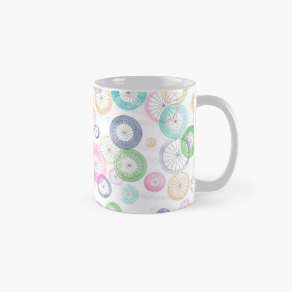 Watercolor Wheels on White Classic Mug