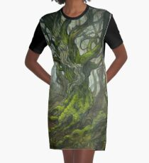The Old Forest (borderless) Graphic T-Shirt Dress