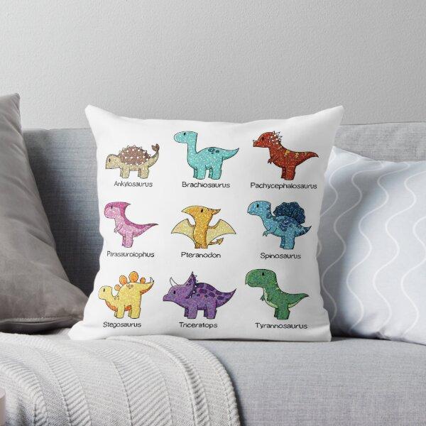 Dinosaur Chart Throw Pillow