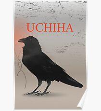 Póster Cuervo negro Uchiha Uchija Design