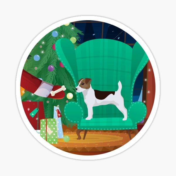 Jack Russel Terrier - Santa Gift Sticker