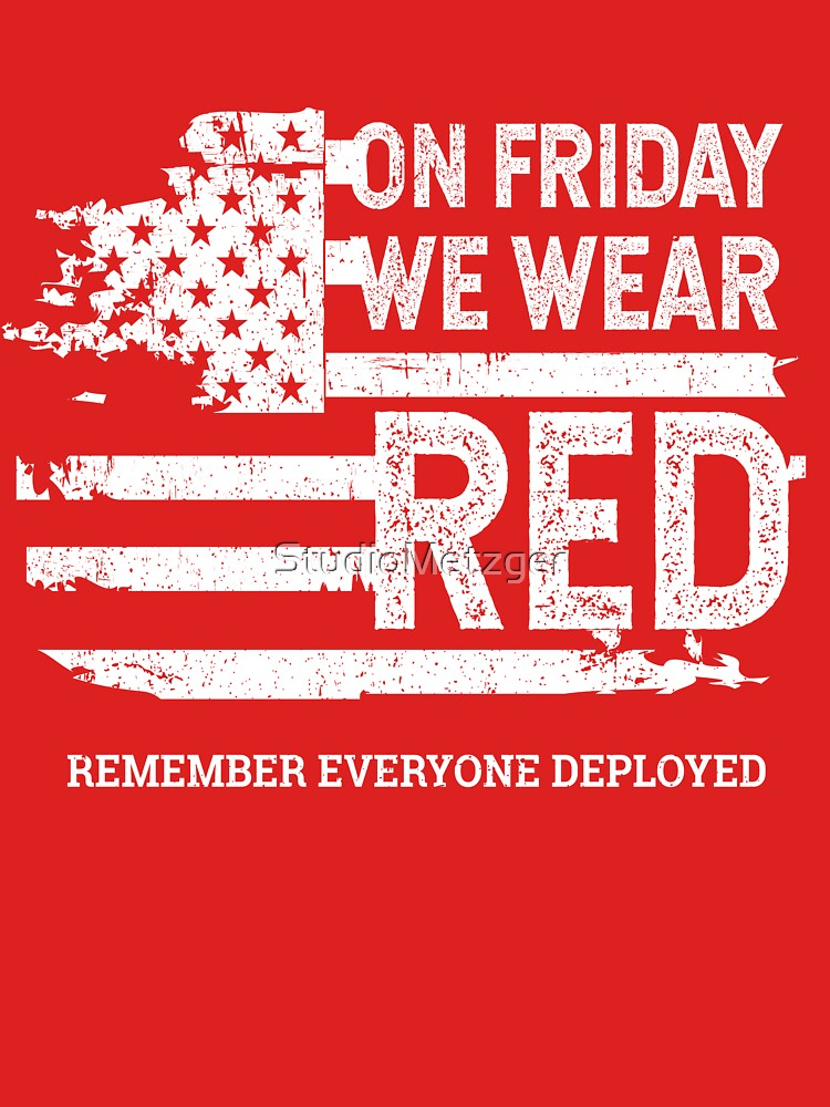 b8ae5db1d We Wear Red Friday American Flag T Shirt By Studiometzger Redbubble