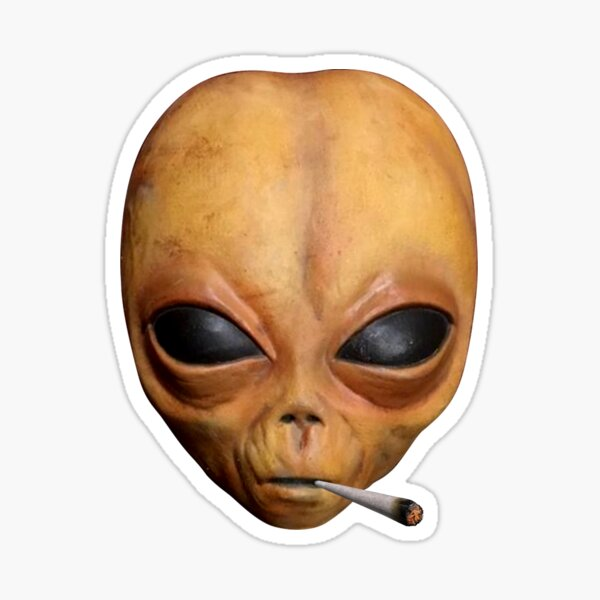 Lil Alien UFO Mayo fumar Weed Hip Hop Extraterrestre Plug Pegatina