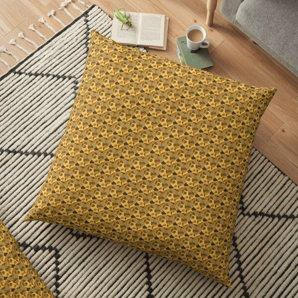 Golden Circles Floor Pillow