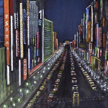 Vaporwave Cityscape by Martstore