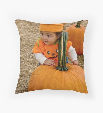 Lil' Pumpkin Throw Pillow