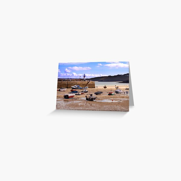 St Ives Harbour Greeting Card