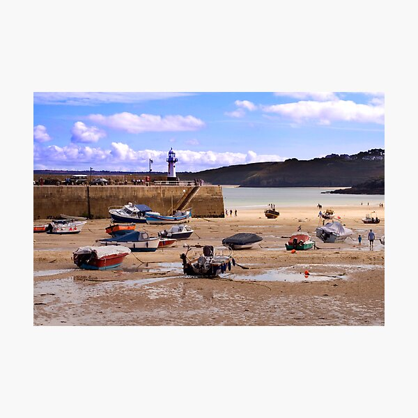 St Ives Harbour Photographic Print