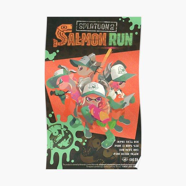 Splatoon 2 piste de saumon Poster
