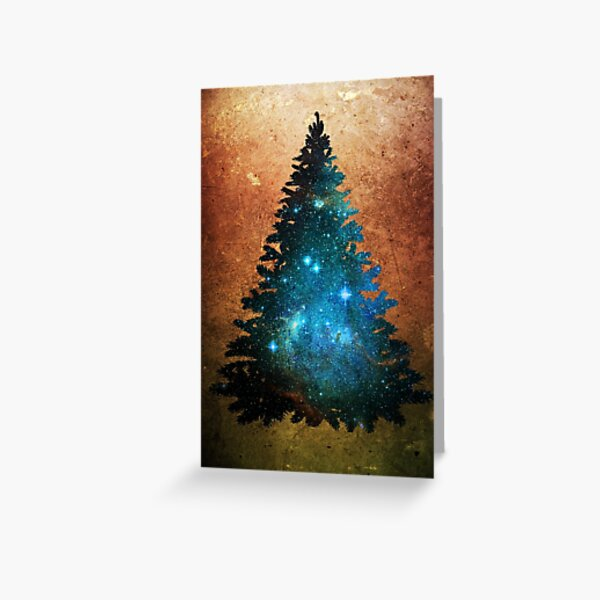 Yuletide Universe Christmas Tree Greeting Card