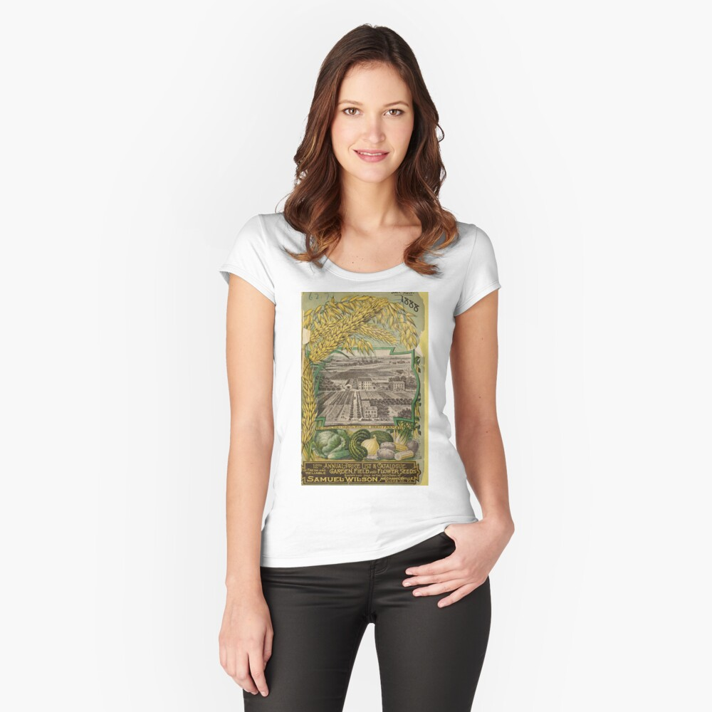1888 Seed Catalog Fitted Scoop T-Shirt