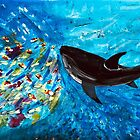 Shark Swimming with Tropical Fish  by BlossomRevival