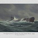 Kriegsmarine U-boat on the high seas, 1943 by edsimoneit