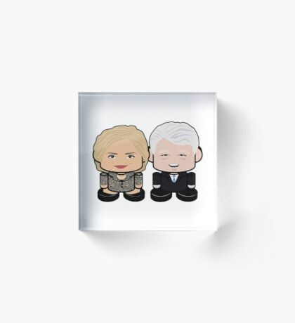 Hill & Bubba: Greater Together Politico'bot Toy Robots Acrylic Block