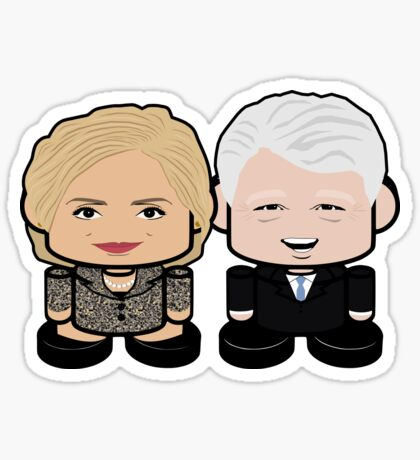 Clintons: Greater Together Politico'bot Toy Robots Sticker