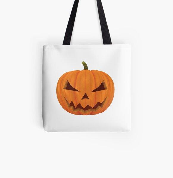 3D Halloween Pumpkin All Over Print Tote Bag
