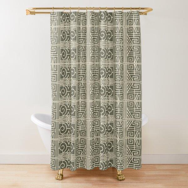 Primitif 25 by Hypersphere Shower Curtain
