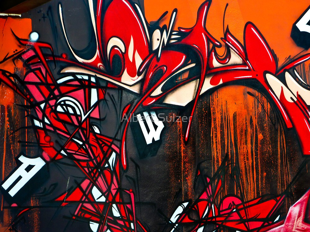 Vision in Red and Black- Graffiti by Albert Sulzer