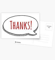 THANKS! Speech Bubble Postcards