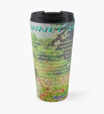 Shakespeare Sonnet 18--Shall I compare thee... Travel Mug