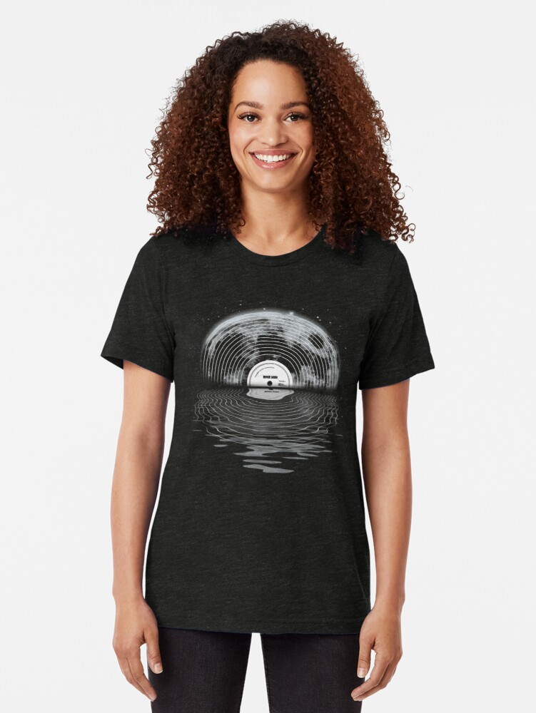Alternate view of Moon Song Tri-blend T-Shirt