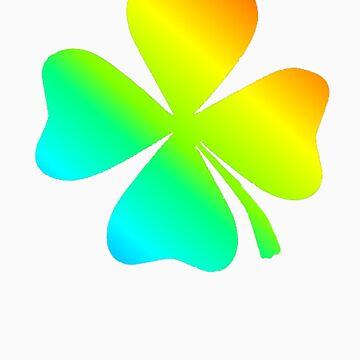 four-leaved clover-rainbow by Grozdan