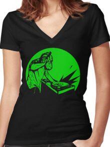 Get Dancin' Women's Fitted V-Neck T-Shirt