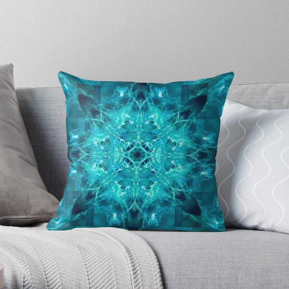 Dragonheart - Aqua Throw Pillow
